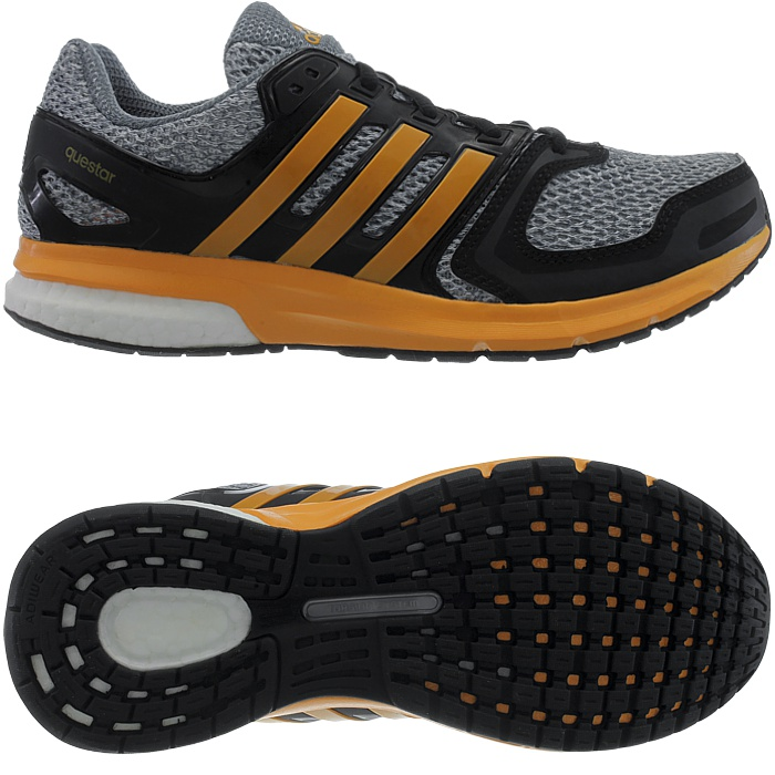 adidas questar boost herren laufschuhe grau rot schwarz running jogging neu ebay. Black Bedroom Furniture Sets. Home Design Ideas