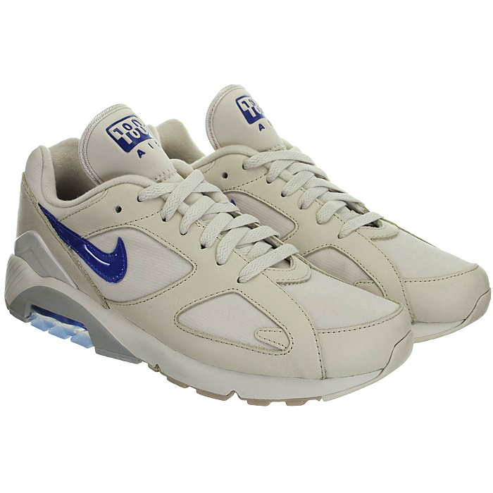 Details zu Nike Air Max 180 beige blau Herren low top Sneakers Leder Freizeitschuhe NEU