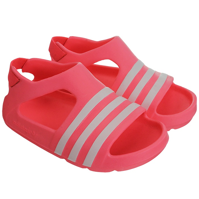 new product 7f963 cf909 Details zu Adidas Adilette Play I Kinder Badelatschen pink blau rot  Sandalen Badeschuhe NEU