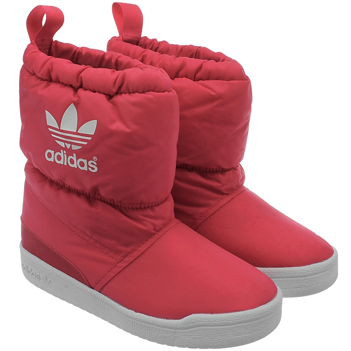 Adidas Slip On Boot K Kids Snow Boots Pink Or Blue Slip In