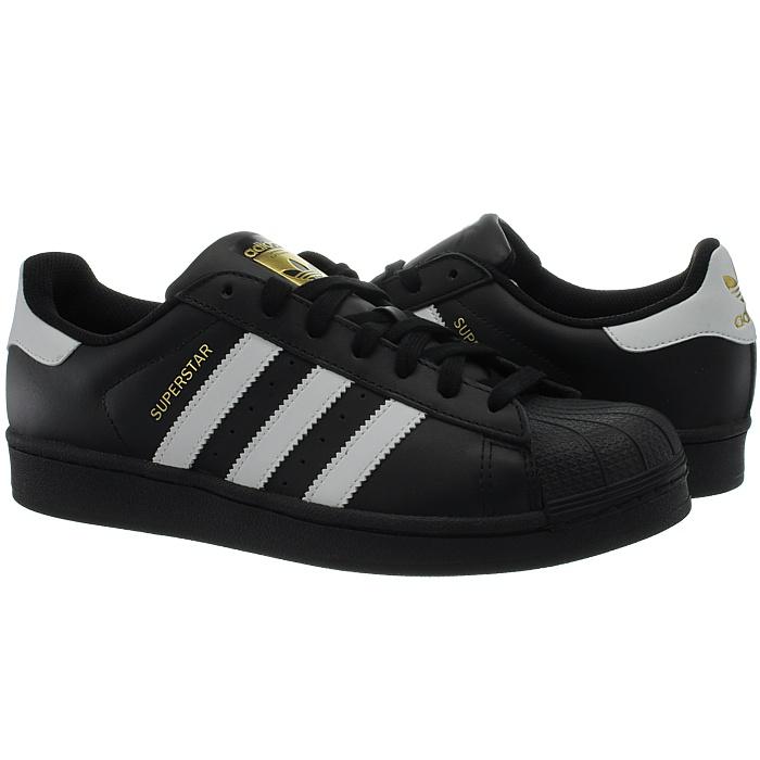 Adidas-Superstar-weis-oder-schwarz-Herren-Leder-low-top-Sneakers-Kult-Schuhe-NEU miniatuur 3