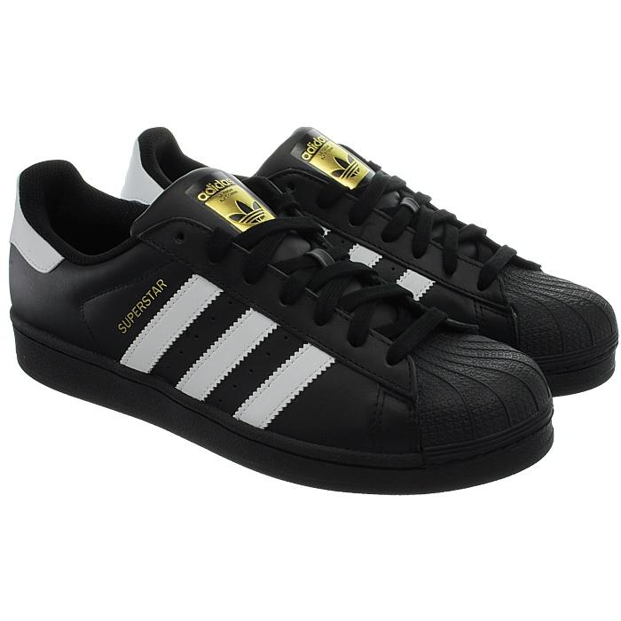 adidas superstar white black trainers