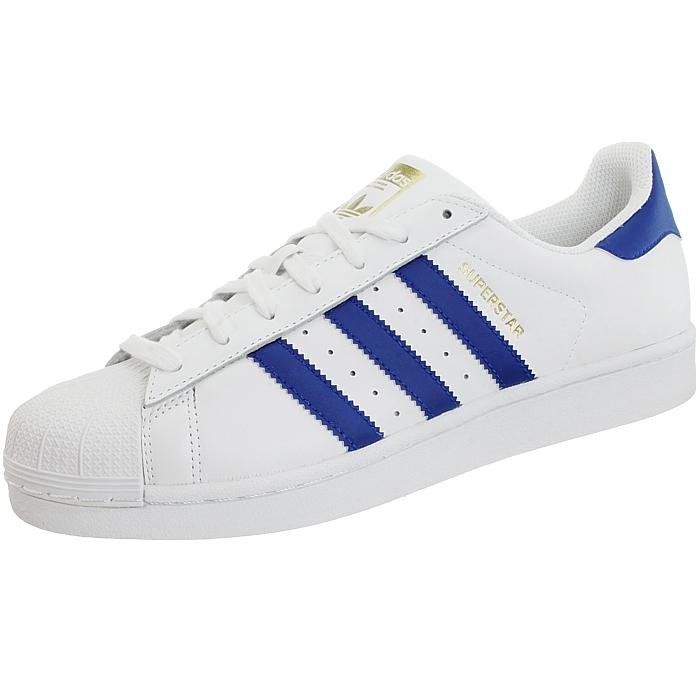 Adidas Superstar Foundation Foundation Foundation Herren low-top Turnschuhe rot oder blau Leder NEU 068eec