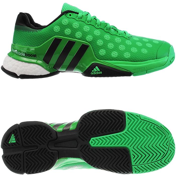 Adidas Barricade 2015 Men S Tennis Shoes Black Green Indoor Allcourt