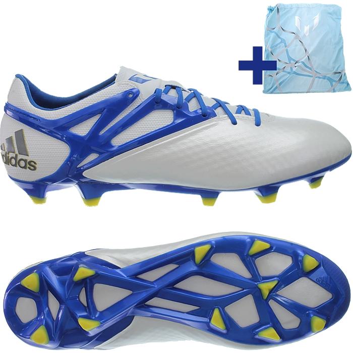 Details zu Adidas Messi 15.1 FGAG Herren Profi Fußballschuhe weißblaugelb NEU