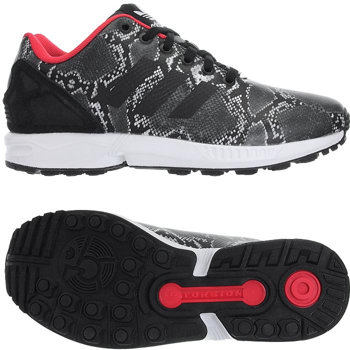 Details zu adidas Sneakers ZX Flux B35317 Schwarz Rot