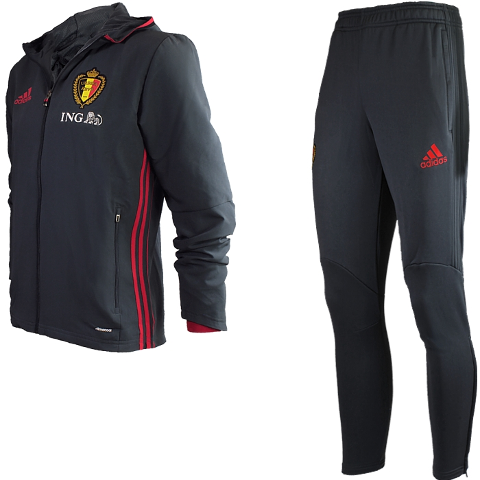 adidas belgium track suit men 39 s rbfa presentation suit jogging fitness new ebay. Black Bedroom Furniture Sets. Home Design Ideas