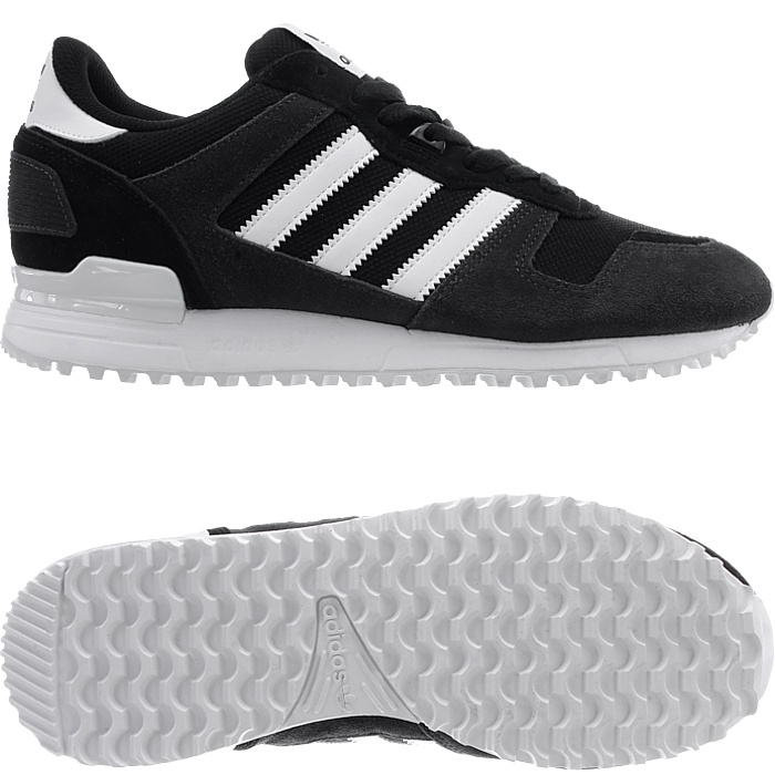 huge selection of 42b72 8ed20 Details about Adidas ZX 700 men's athletic retro sneakers black or red  casual shoes suede NEW