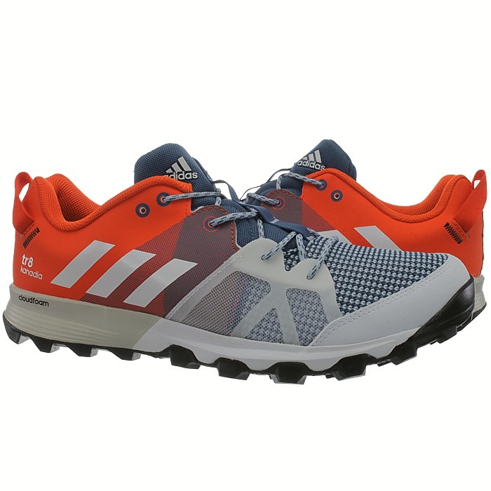 26dac72bccd39 Adidas Kanadia 8 TR men s running shoes orange black blue trekking ...