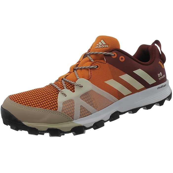 Adidas Kanadia 8 TR men's running shoes orange black blue