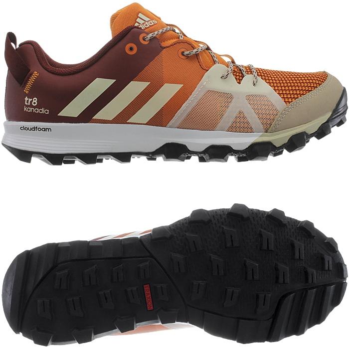 Adidas Kanadia 8 TR men s running shoes orange black blue trekking ... 2005b1fe7