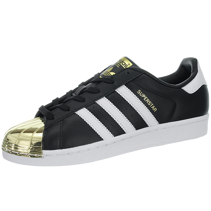 especificación Marchitar físicamente  Adidas Superstar Metal Toe W black white gold Women's low-top sneakers  leather | eBay