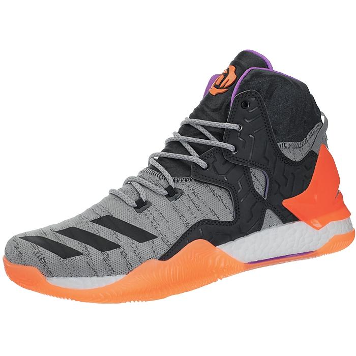 Details zu Adidas D Rose 7 Primeknit grau Herren Basketballstiefel Schuhe Derrick Rose NEU