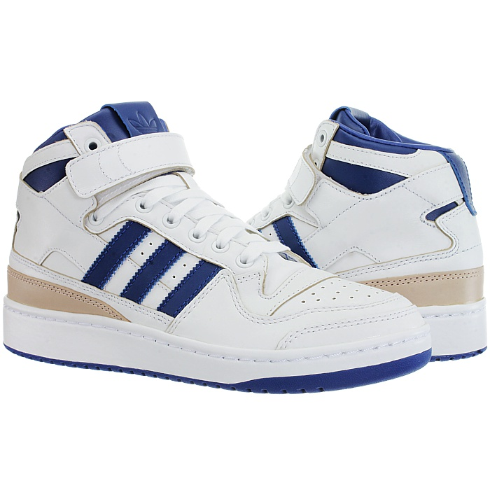 Details about Adidas Forum Mid white Men's leather basketball retro 80s midtop sneakers NEW
