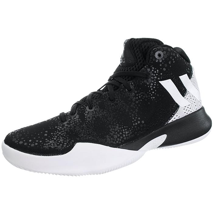 online retailer e79ff f844b Adidas-Crazy-Heat-Herren-Basketballschuhe-weiss-schwarz-Basketballstiefel-