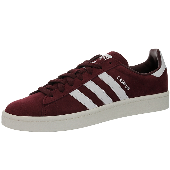 Details about Adidas Campus red white men's low-top sneakers nubuck  trainers casual shoes NEW