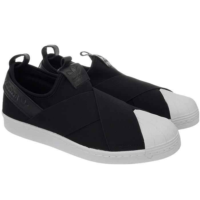 adidas Superstar Slipon SCHUHE 46 0 EU schwarz weiß