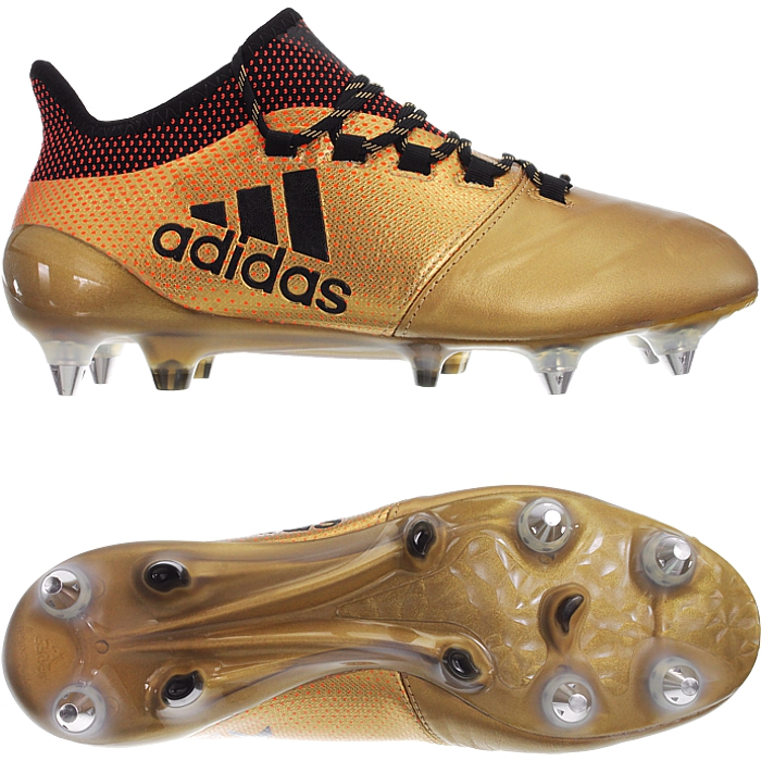 caminar Decaer Isaac  Adidas X 17.1 SG Leather gold Men's soccer football boots studs SoftGround  NEW | eBay