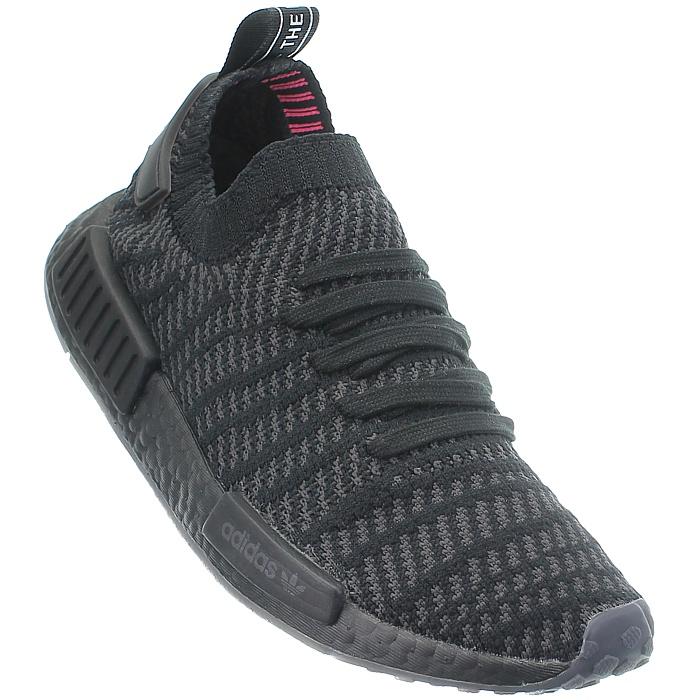 Details zu Adidas NMD_R1 schwarz Damen Low Top Sneakers Canvas Running Boost PrimeKnit NEU