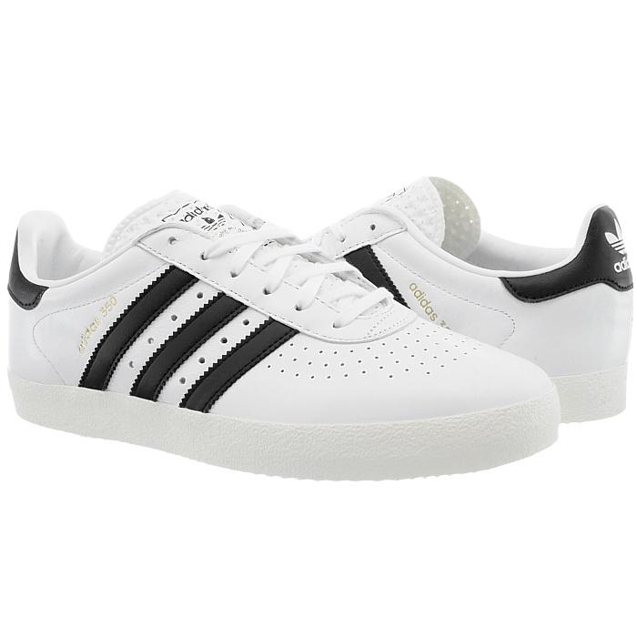 Adidas weiß 350 Herren low-top Sneakers weiß Adidas schwarz Leder Turnschuhe Freizeit NEU 352267