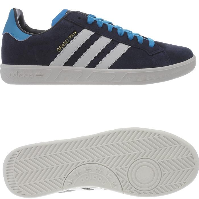 Details zu Adidas Grand Prix Herren Wildleder Kult Sneakers Freizeitschuhe blau weiß NEU
