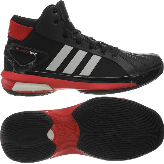 Adidas Futurestar Boost black red white Men's Basketball shoes ...