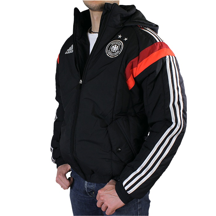 Cool hooded jacket of the German national football team not only for your  stadium visit, warm padded but light and comfortable. The soft fleece  collar, ...