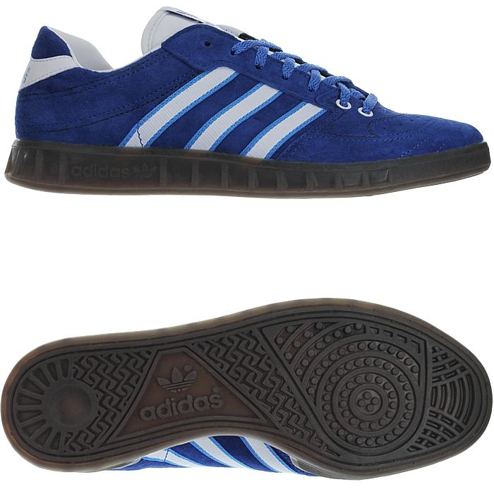 Details zu Adidas Handball Kreft Spezial blau weiß Herren Low Top Sneakers Wildleder NEU