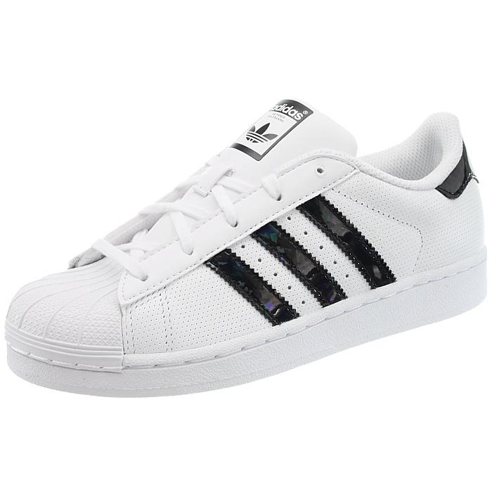 Details zu Adidas Superstar C Kinderschuhe weißschwarz weißpink low top Sneakers NEU