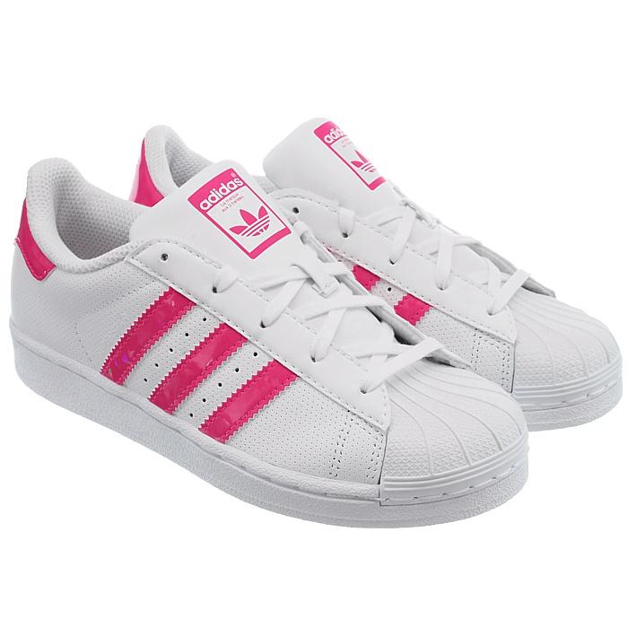 Details zu Adidas Superstar I Babyschuhe low top Sneakers weiß mit pink oder schwarz NEU