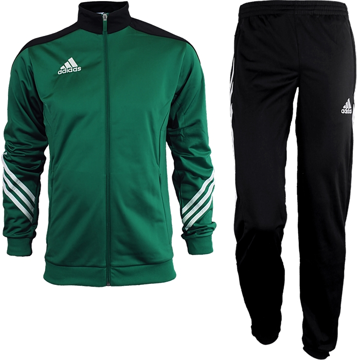 0360756b Details about Adidas Sereno 14 men's track suit green/white/black jogging  sports training NEW