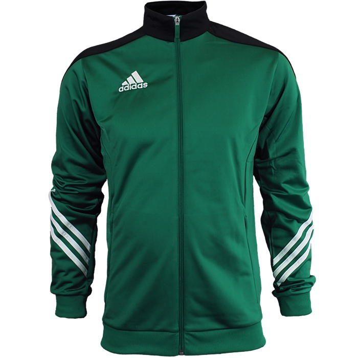 6f5d449d14c4 Adidas Sereno 14 men s track suit green white black jogging sports ...