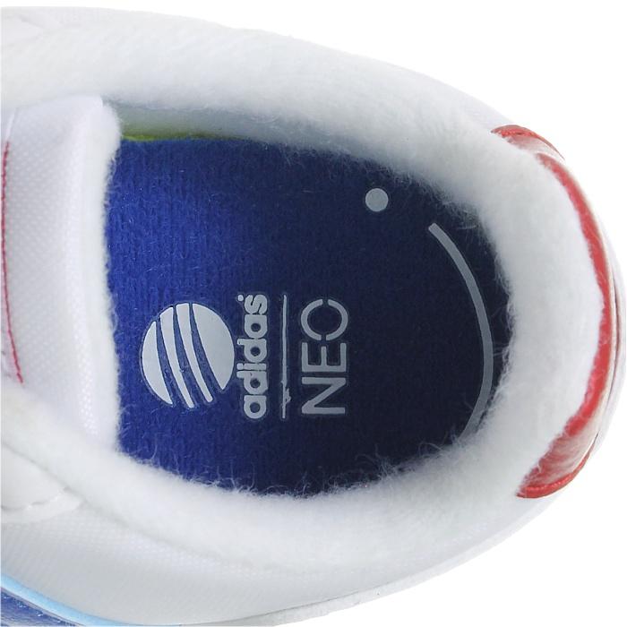 Adidas Switch VS INF weiß blau rot Baby low-top Sneakers Klettverschluss NEU