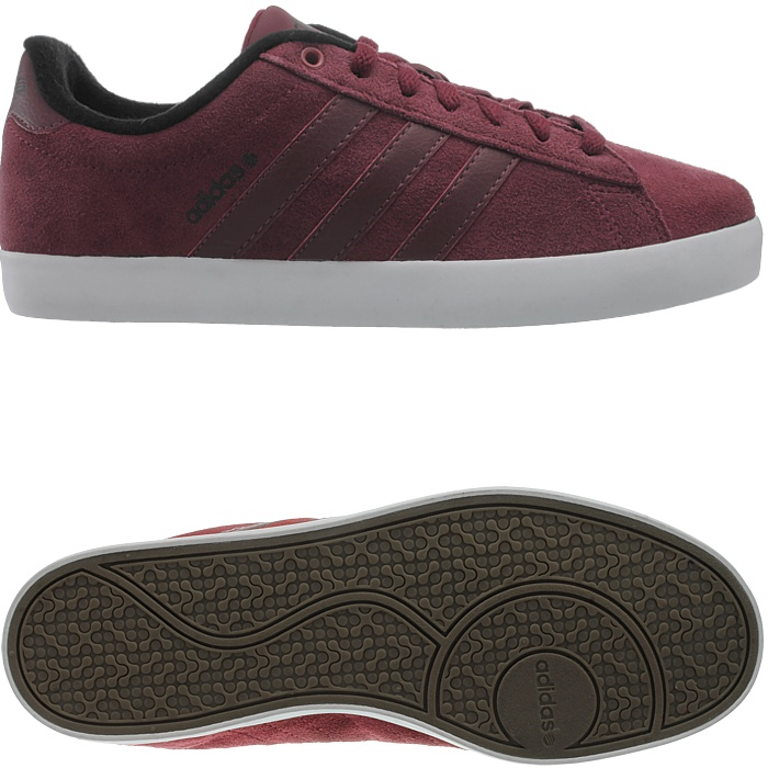 adidas Neo DERBY ST Red Burgundy Suede Leather Men Sneakers