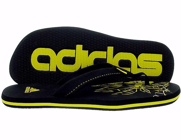 Adidas Chewang K schwarz gelb Badelatschen Zehentrenner Zehengreifer NEU OVP