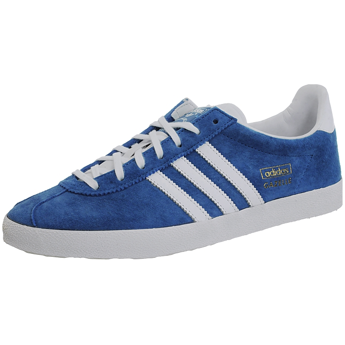 detailed pictures 30caf da979 Details about Adidas Gazelle OG blue white men s Low-Top retro lifestyle  sneakers trainers NEW