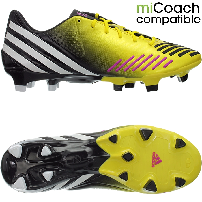 super popular fe182 53c0d Details about Adidas Predator LZ TRX FG men s professional soccer cleats  yellow white black