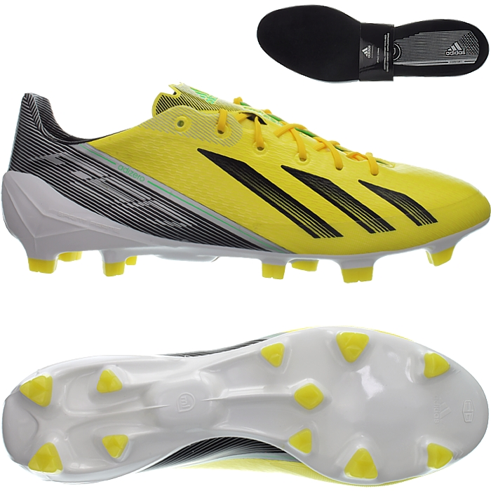 Details zu Adidas F50 ADIZERO TRX FG gelb schwarz weiß Nocken Fußballschuhe NEU OVP