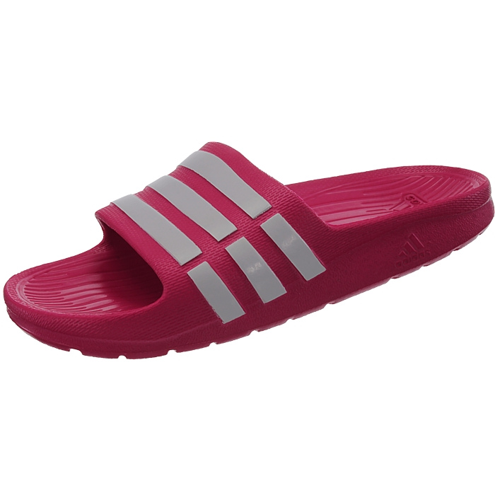save off fa9c6 0e96f Details about Adidas Duramo Slide K girls pool sandals pinkwhite shower sandals  slides NEW