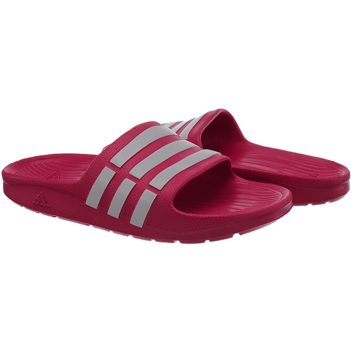 4e5cb361a31 Adidas Duramo Slide K girl s pool sandals pink white shower sandals ...