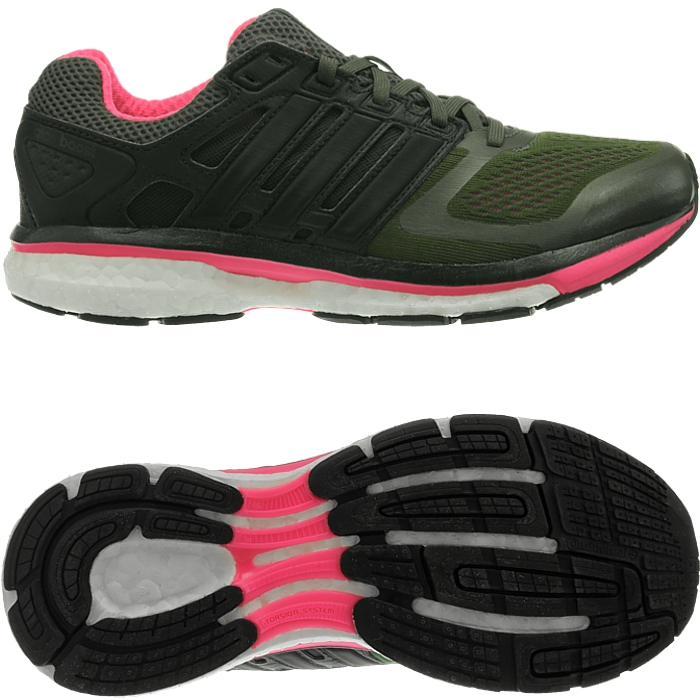 feb7b686962a adidas Supernova Glide 6 Boost Womens Black Pink Cushioned Road Running  Shoes UK 3.5. About this product. Picture 1 of 5  Picture 2 of 5 ...