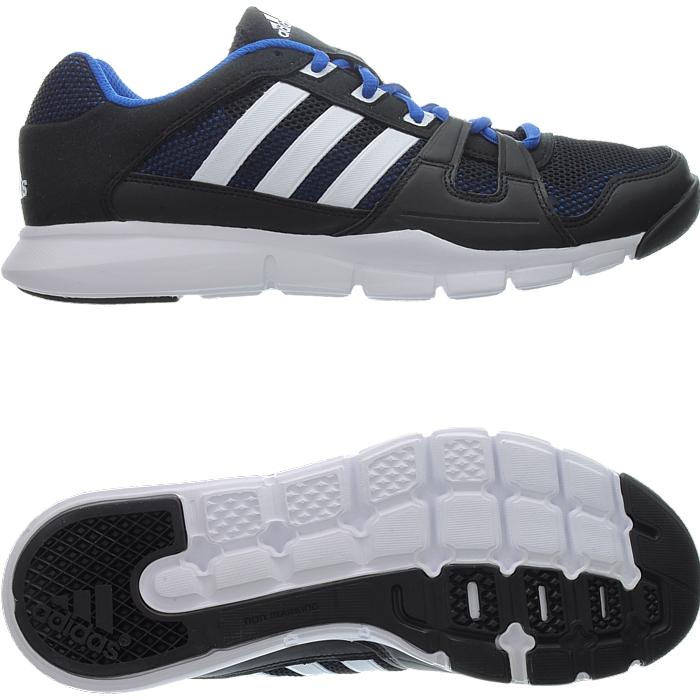 Adidas Fitnessstudio Schuhe Gym Warrior blau schwarz Herren Sport Running NEU srZiOfdII