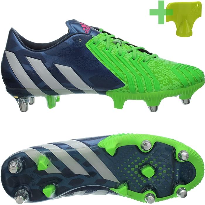 Adidas-Predator-Instinct-SG-rot-gruen-Stollen-Rugby-