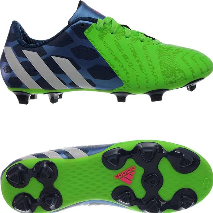 el mejor elegir oficial elige lo último Adidas Predito Instinct FG Kid's soccer cleats blue/white/green FG ...