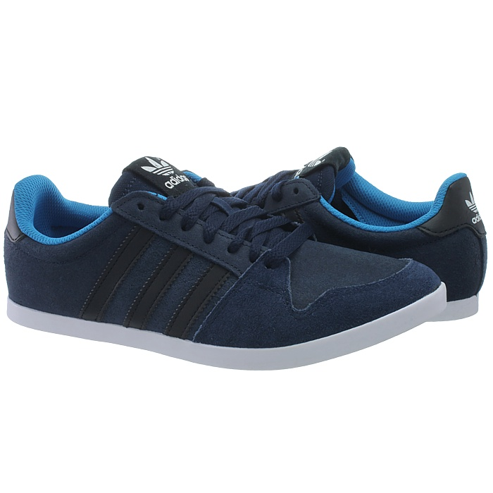 Details about Adidas Adilago Low men's casual shoes blackgrayblue low top sneakers suede NEW