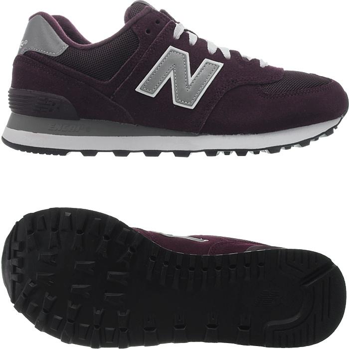 New-Balance-m574-Core-Messieurs-Low-top-Baskets-De-Loisirs-Chaussures-Daim-Neuf miniature 9