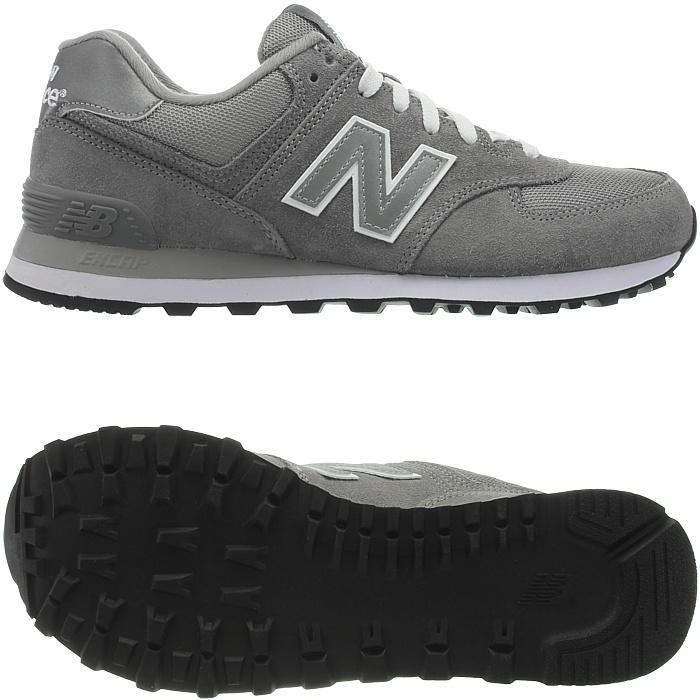 New-Balance-m574-Core-Messieurs-Low-top-Baskets-De-Loisirs-Chaussures-Daim-Neuf miniature 5