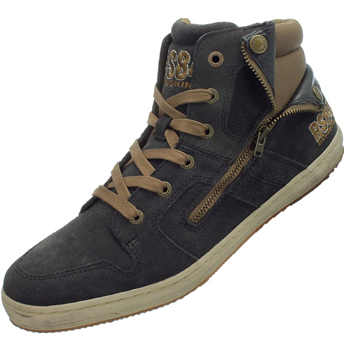 RedSkins Minska men/'s casual high-top sneakers blue anthracite suede NEW