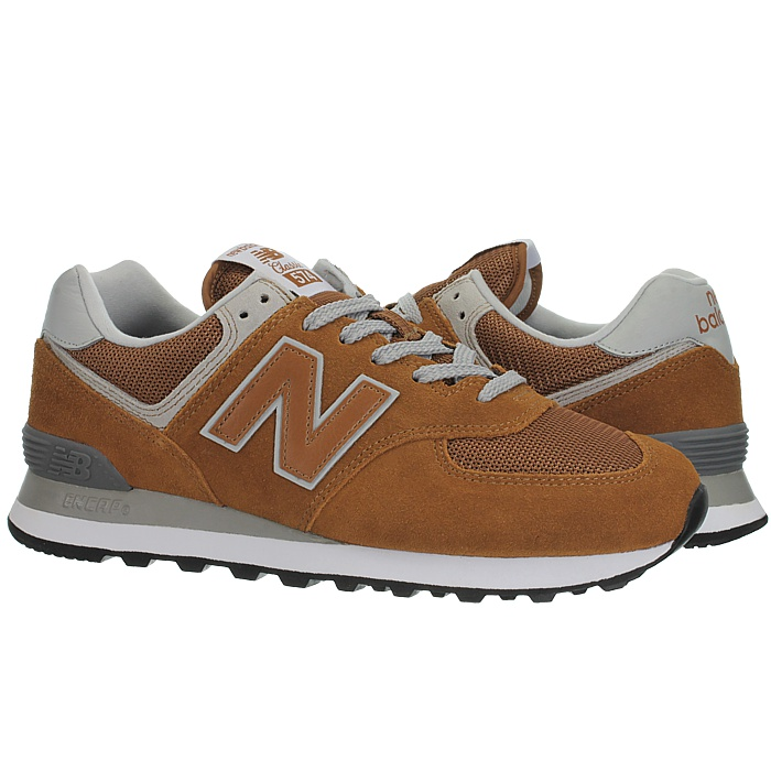 New-Balance-ml574-Classic-574-Hommes-Daim-Low-top-Baskets-RARE-NEUF miniature 19