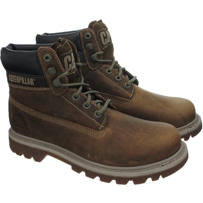 Caterpillar-Colorado-Noir-Marron-Beige-Messieurs-Cuir-Boots-Bottes-6-Couleurs-Neuf miniature 24